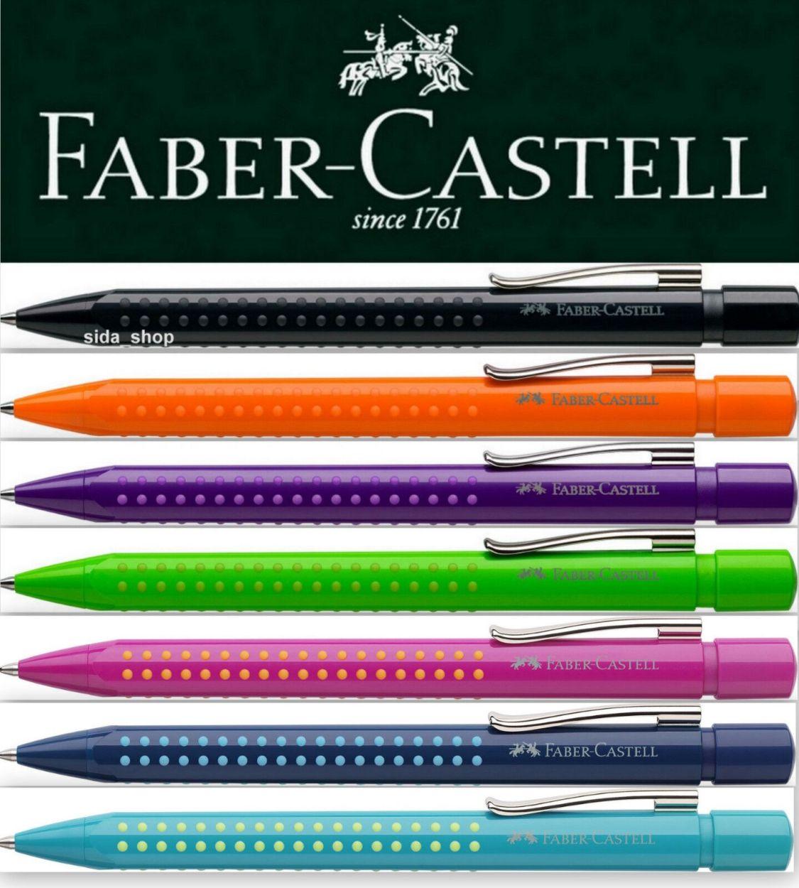 Faber-Castell GRIP 2010 Kugelschreiber pink blau türkis orange violett grün 2011