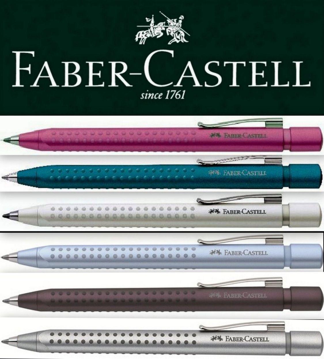 Faber-Castell GRIP 2011 Kugelschreiber pink petrol violett grün silber braun