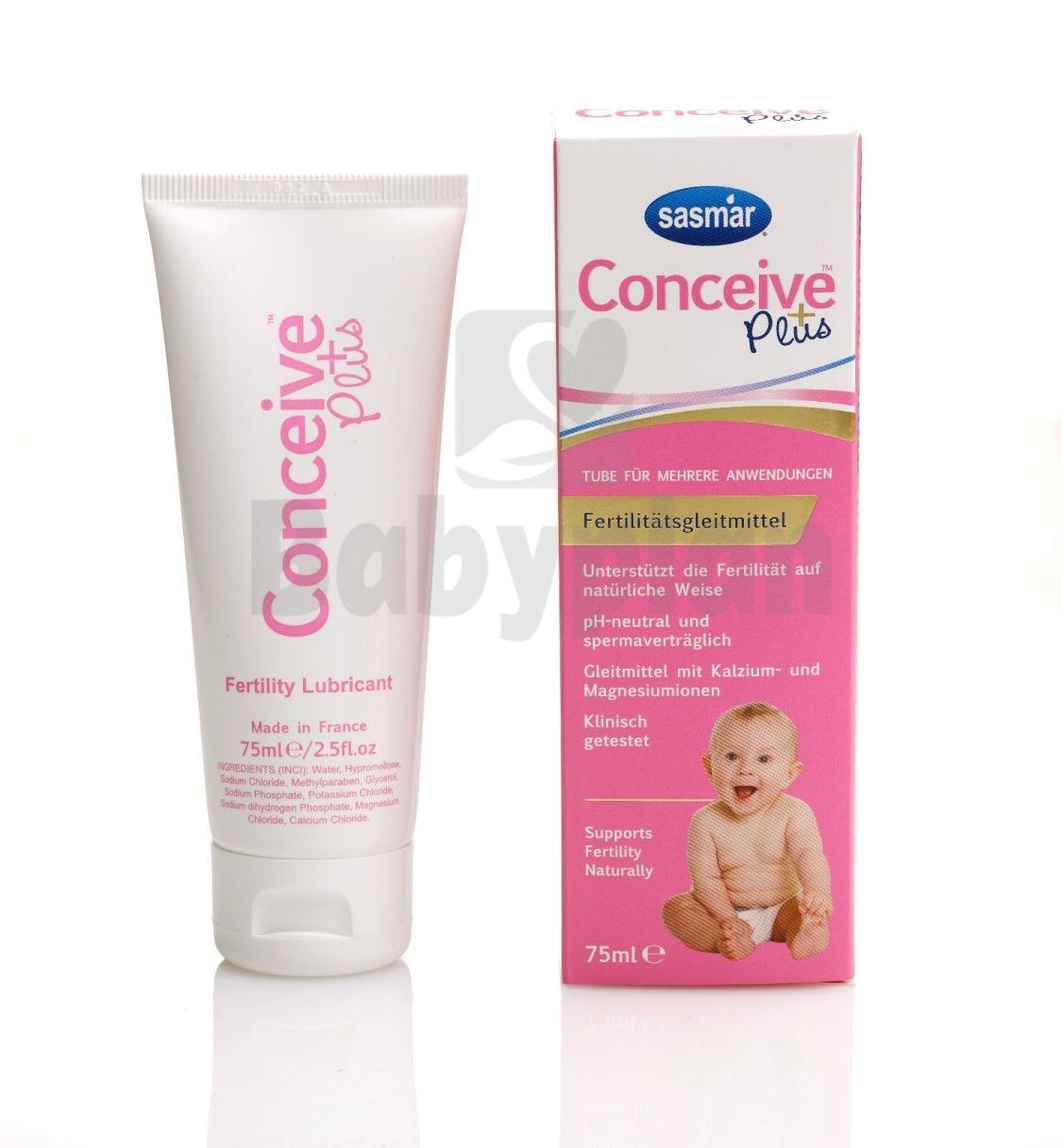 SASMAR Conceive Plus Fertilitätsgleitmittel Gleitgel bei Kinderwunsch Tube 75ml