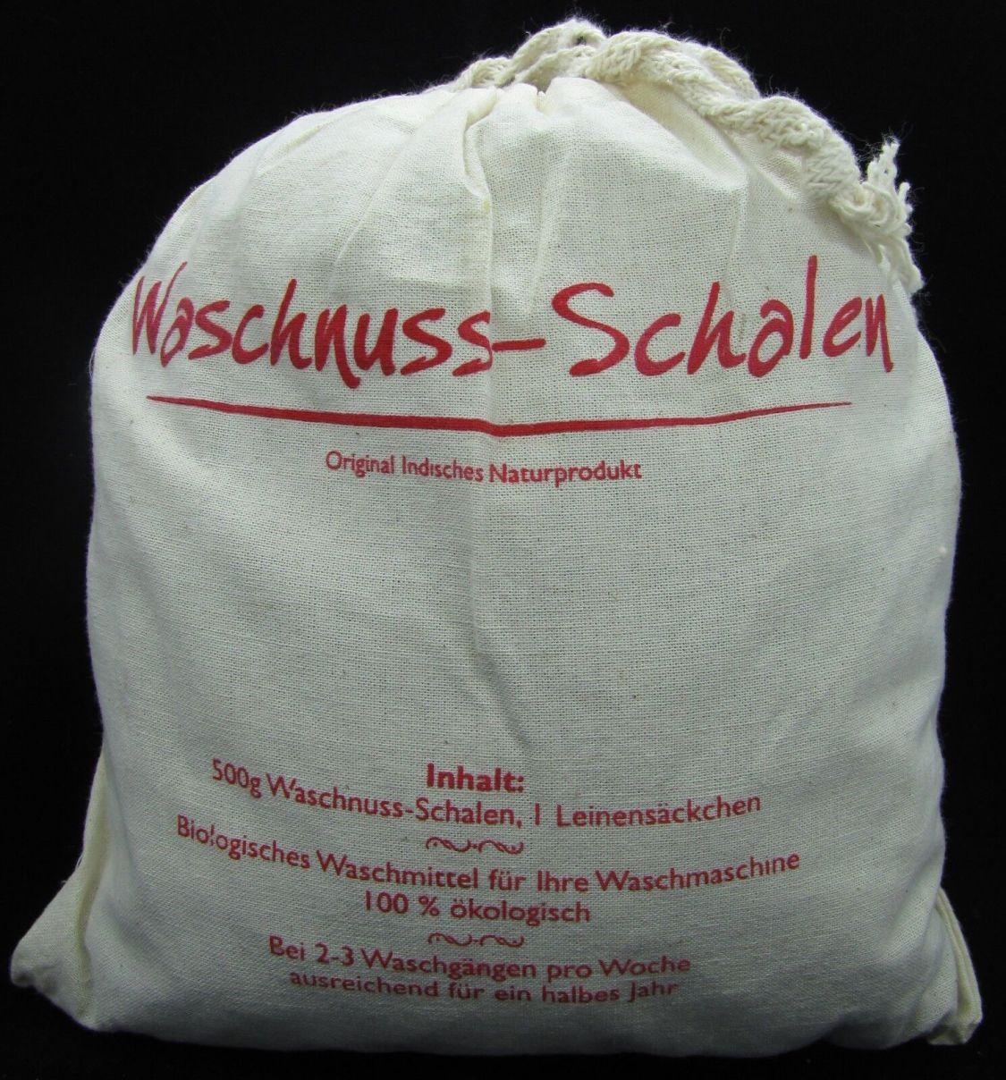 Indische Waschnüsse Waschnuss Schalen Bio Leinensäckchen gratis 500 g ökologisch