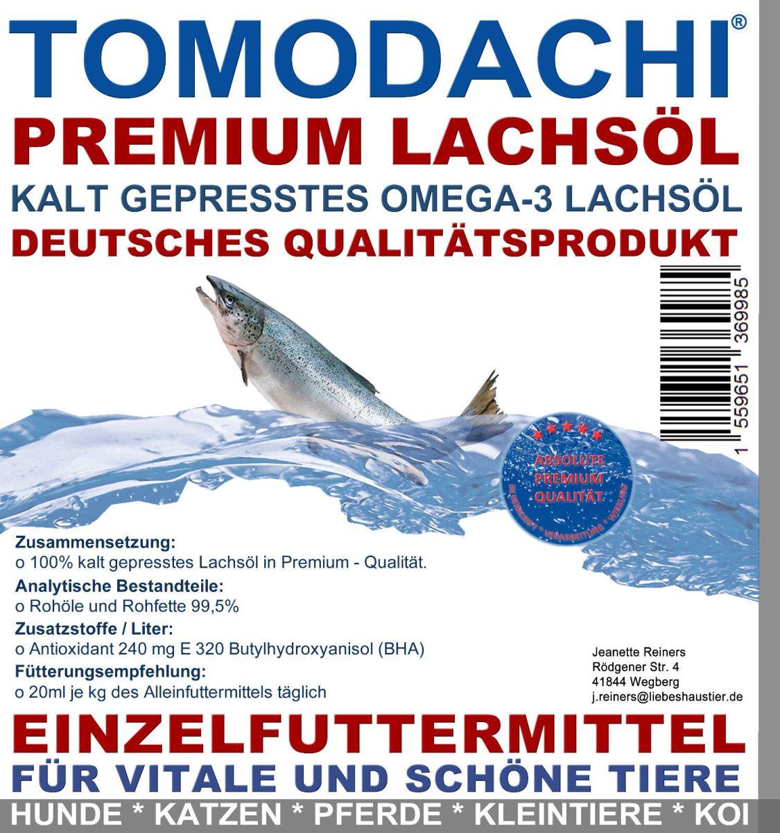 Lachsöl für Hunde, BARFen, reich an essentiellen Fettsäuren, Omega 3 Lachsöl 20L