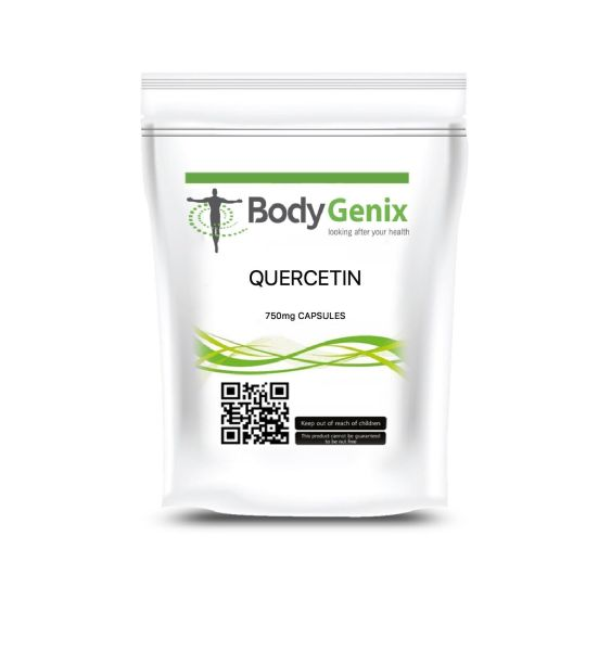 Quercetina 750mg Vegetale Capsula Bodygenix UK Prodotte Energia Booster