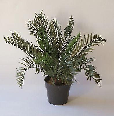 Kunstpalme Cycas Palme Palm Tree Topfpflanze Kunststoff  H:ca. 27 cm