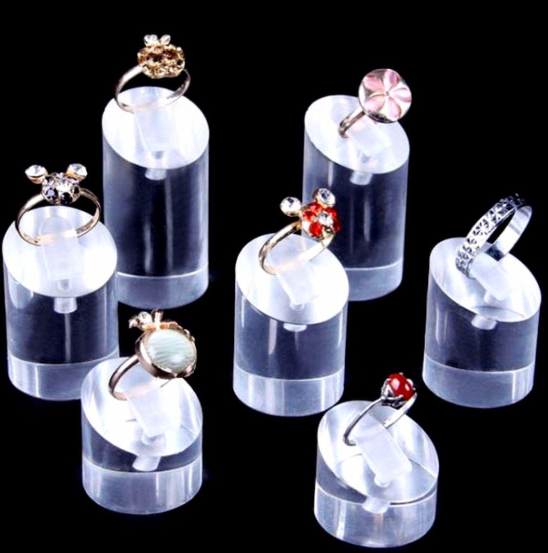 Set 7 Ringständer Acryl 15-45 mm Ringhalter Schmuckständer Schmuck Ring Stand