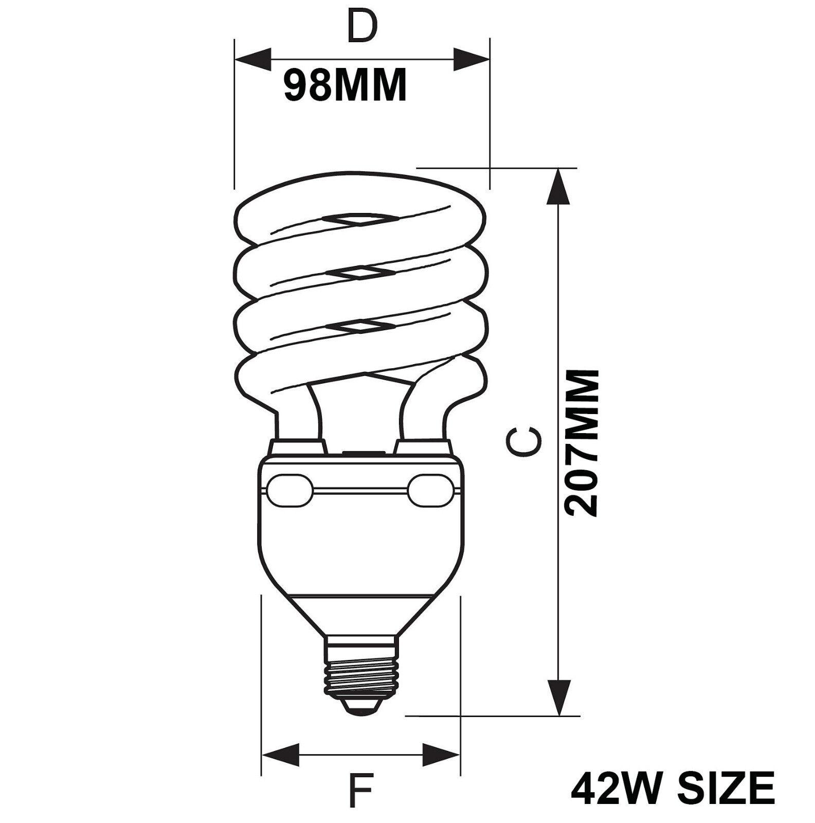 Philips Energy Saving Spiral Light Bulbs 5w 8w 12w 20w