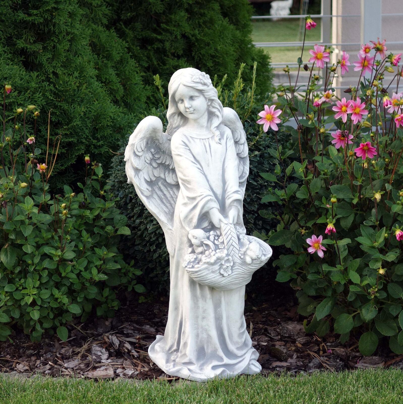 details sur top modele massif pierre ange avec panier de fleurs grabdeko decoration jardin