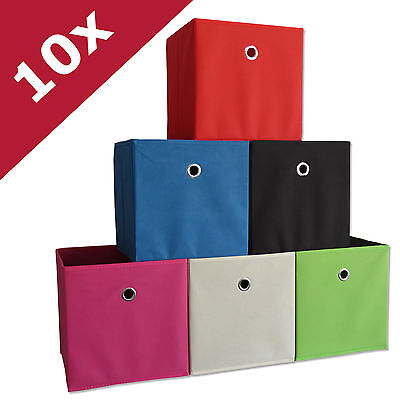 VCM 10er Set Faltbox Klappbox Sammelbox Stoffbox Regalbox Regalkorb