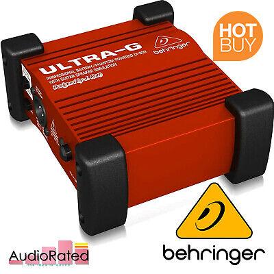 Behringer Guitar DI Box Cab Simulator Amp Speaker Attenuator Mixer Ground Loop