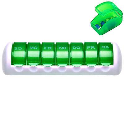 DEUBA® Pillenbox 7 Tage Pillendose Medikamentenbox Tablettenbox Dosierer