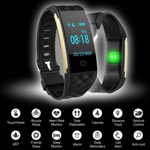 Wasserdicht Bluetooth Smartwatch Armbanduhr für IOS Android Samsung Fitness Uhr