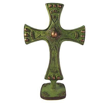 Bronzekreuz Stehkreuz doppelseitig 19 cm standing Cross