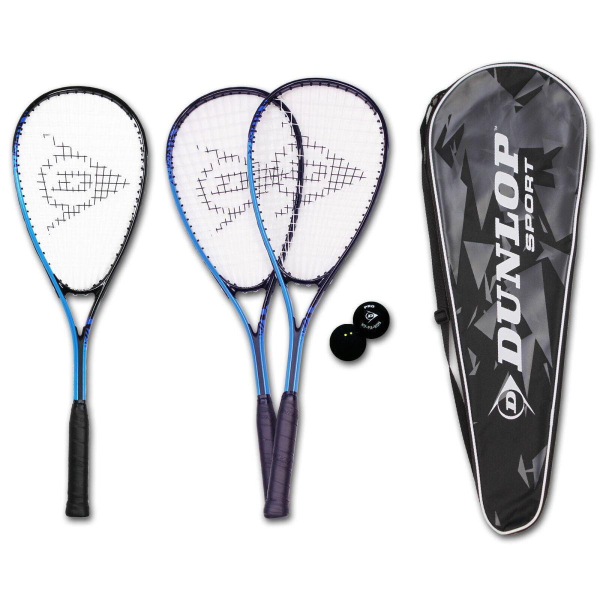 DUNLOP Force Xtreme Ti Squashschläger Squashset Ball 2 Punkte Tasche 4 Varianten