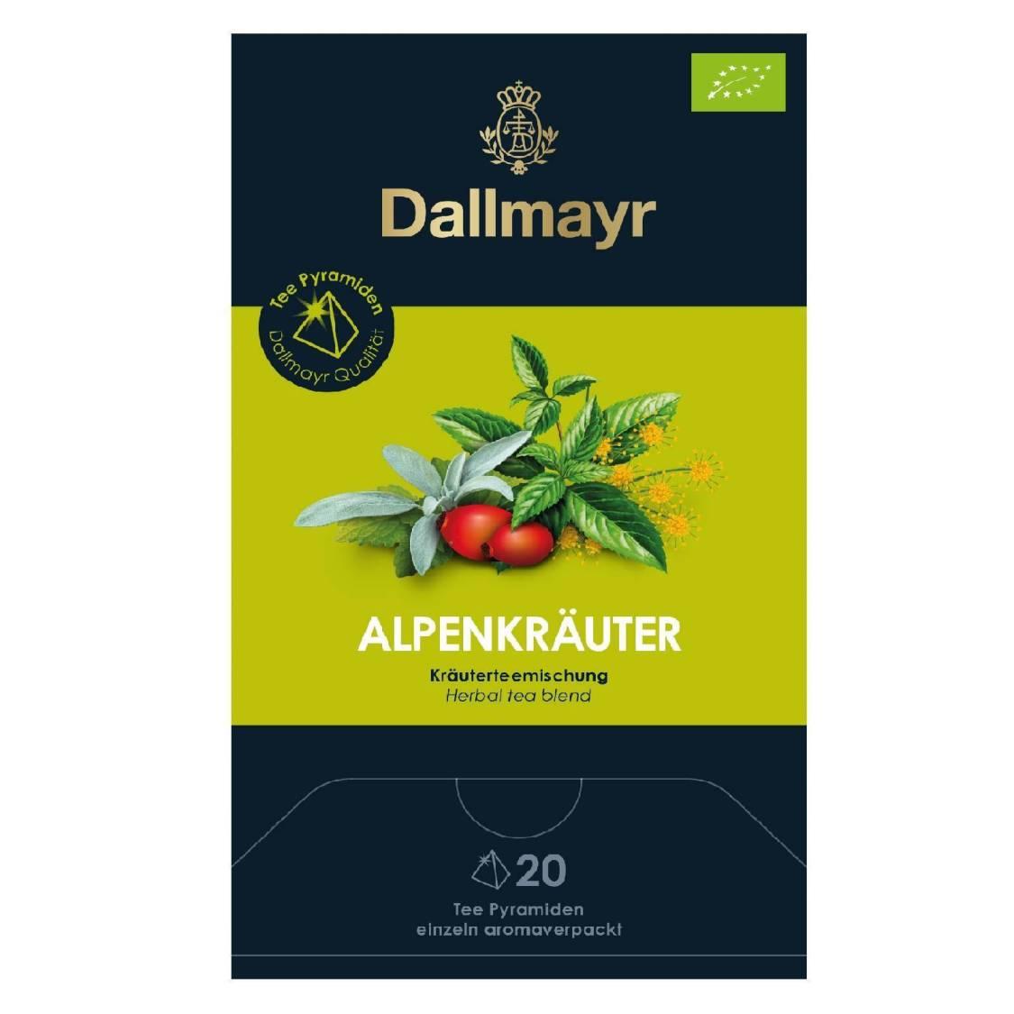 Dallmayr Tee Pyramiden Alpenkräuter Bio 20 x 2,5g