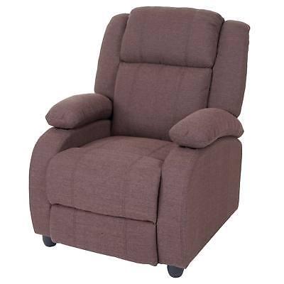 Fernsehsessel Relaxsessel TV Sessel Relaxliege Stuhl Liege mahagoni Textil 55085