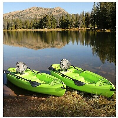"‼️Lifetime Tioga 120"" Kayak, 2 Pack Lime Green With 2 Paddles Sit On Top‼️"