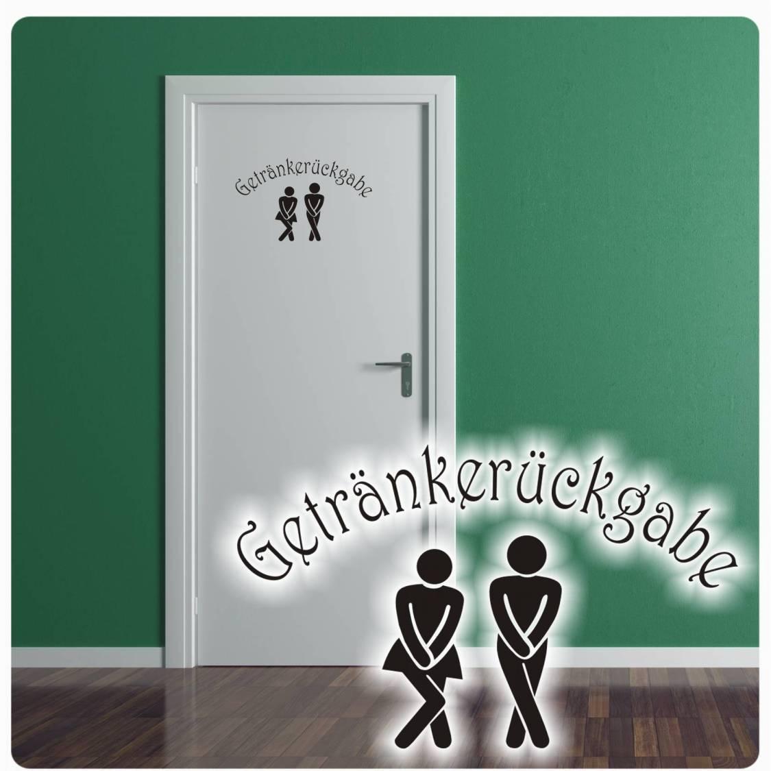 Tür Aufkleber Getränkerückgabe Wandtattoo Pipi Lounge WC Bad Badezimmer T330