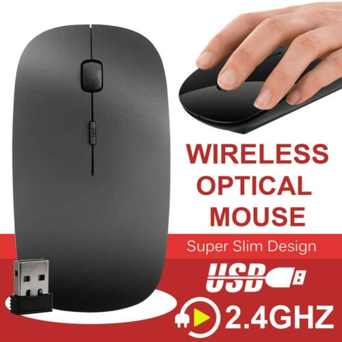 Mini Wireless Maus 2,4 GHz optische Scroll für Computer PC Laptop mit USB Dongle