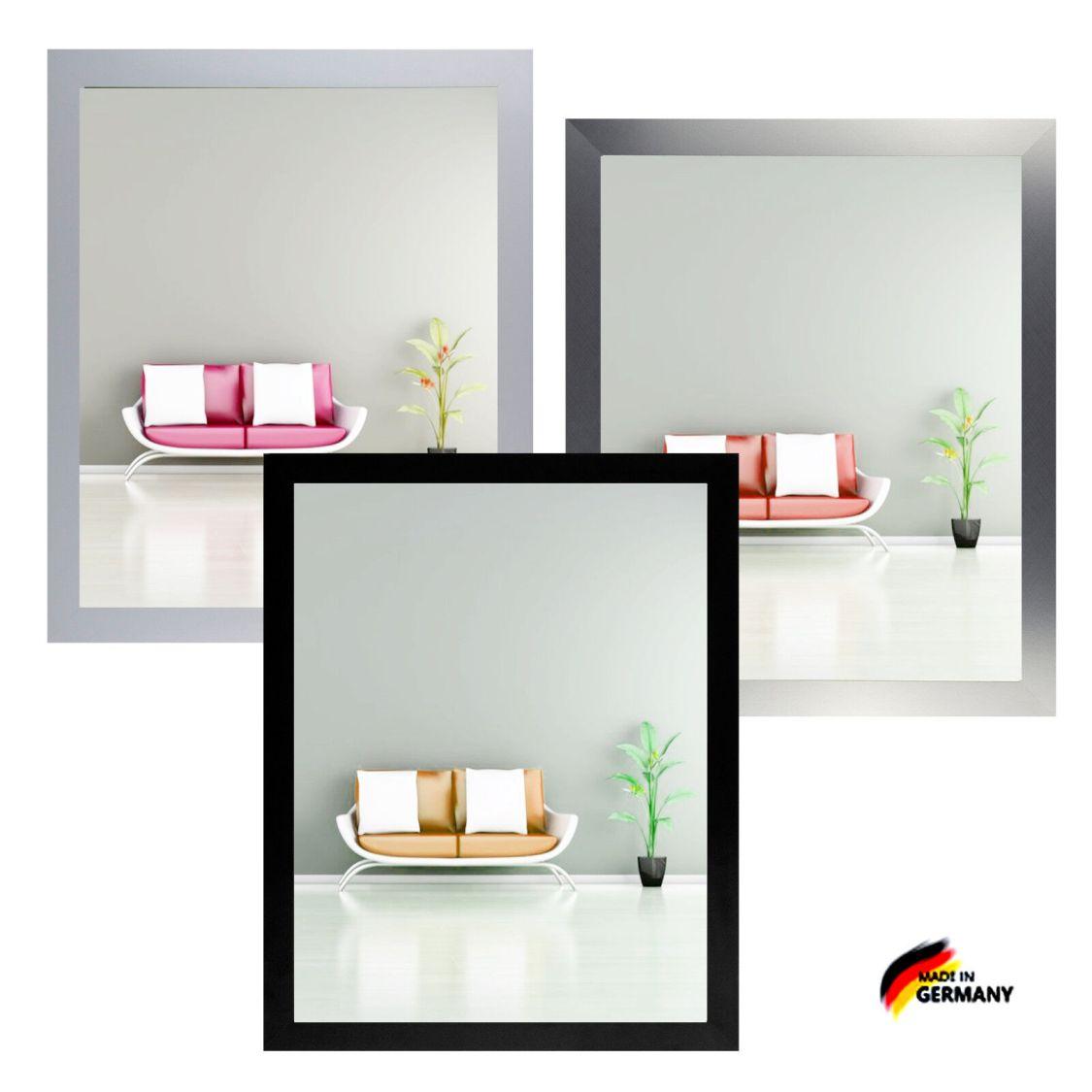 Bilderrahmen Monzetta Schwarz Weiß Silber Alu-gebürstet Holz Foto Poster Rahmen