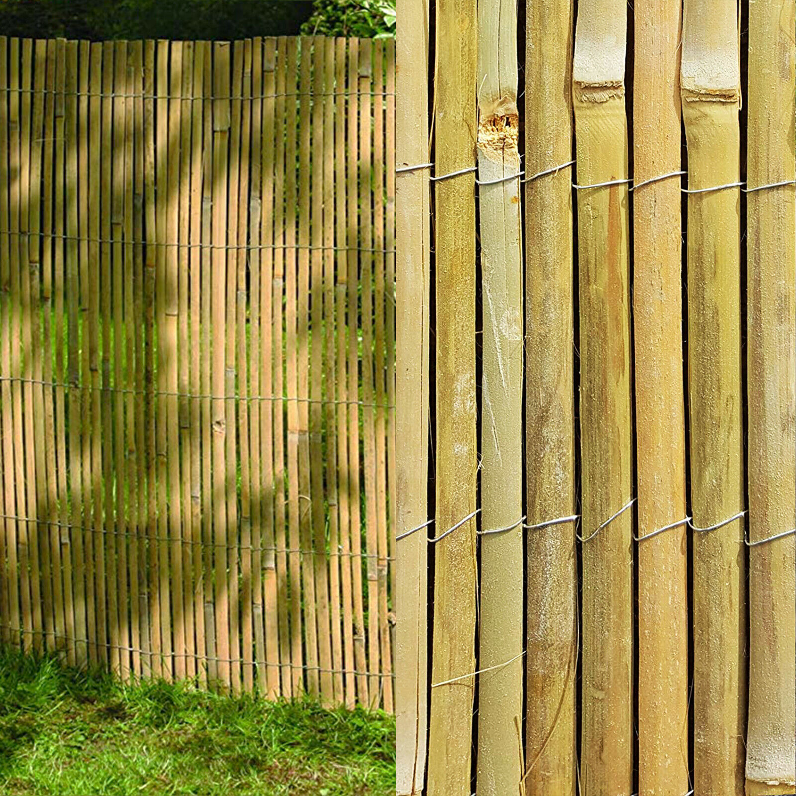 4m slatted bamboo fence screening roll