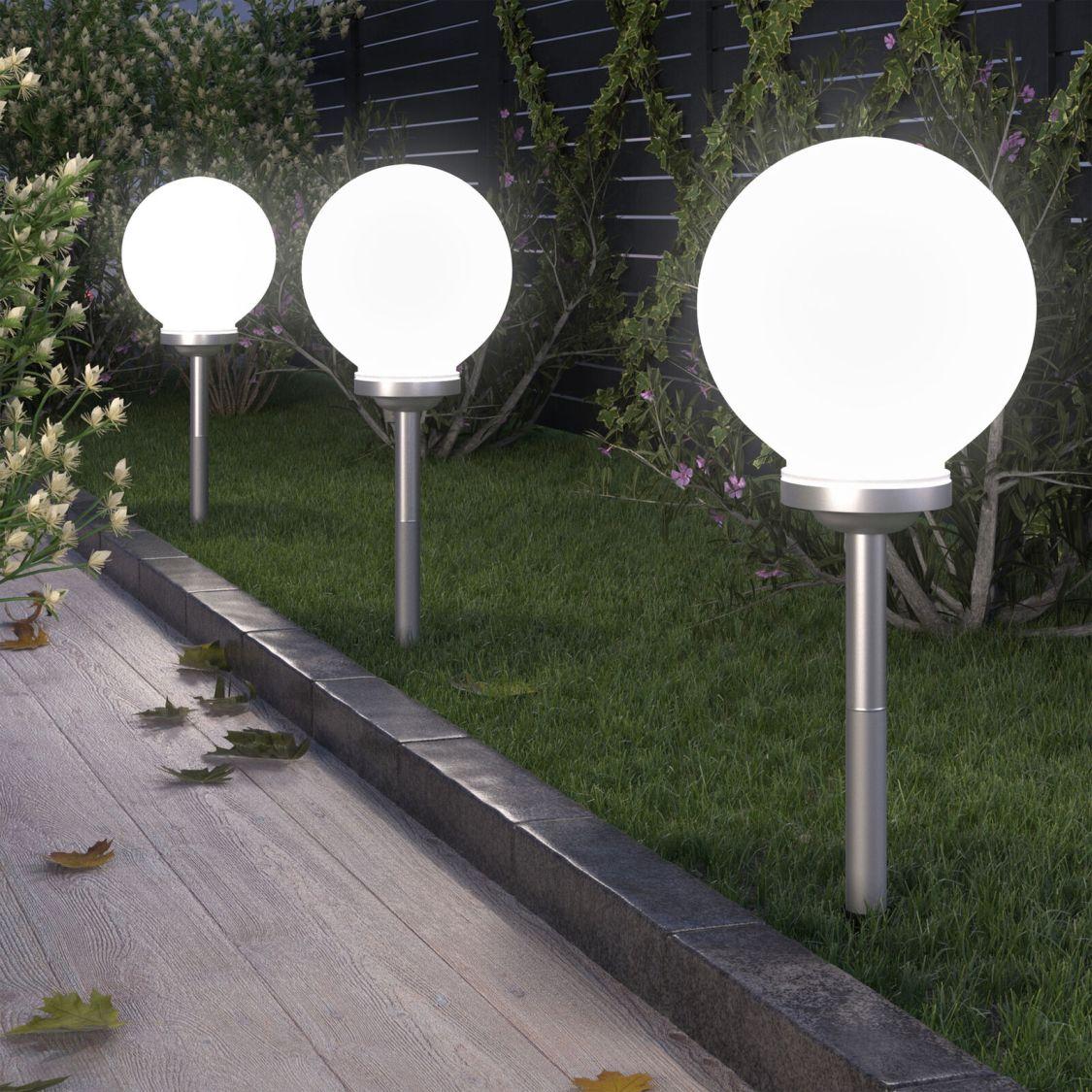 LED Solar Kugel Leuchtkugel Solarleuchte Solarlampe Solarkugel Leuchte Lampe