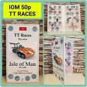 50p 1981-2020 IOM TT Legends-TT Races coin collector album Isle of Man JB Album