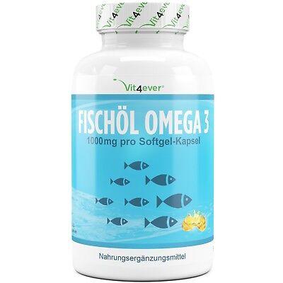 Omega 3 Fischöl 340 Softgel Kapseln 1000mg Lachsöl 18% EPA & 12% DHA Vit4ever