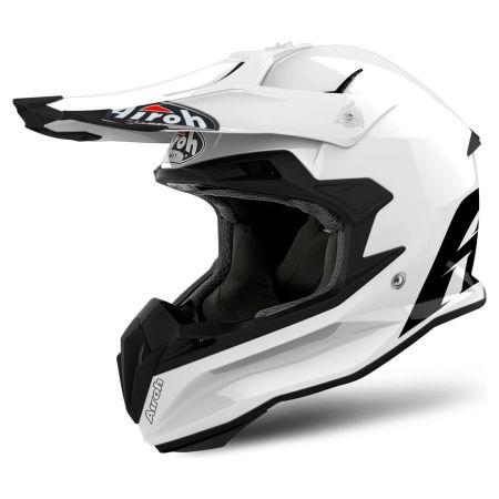 Casco moto cross enduro motard atv Airoh Terminator 2.2 Color 2018 colore bianco
