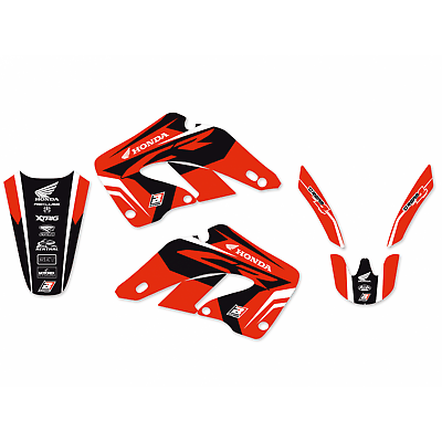 adesivi grafiche Honda Cr 125 / 250 2000 - 2001 2138N blackbird in Crystal moto