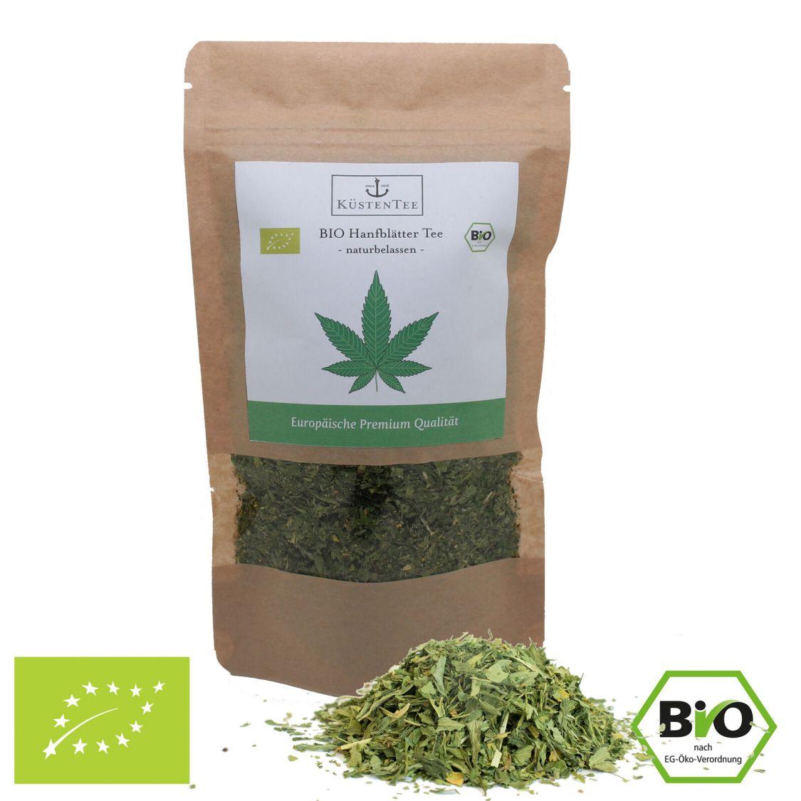 BIO CBD Hanftee 50g - Qualität Österreich Hanfblätter + Blüten Tee Cannabis
