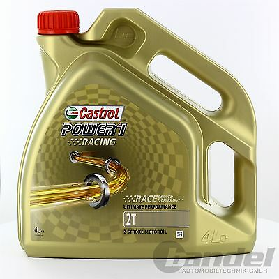 [9,23€/L] 4L CASTROL POWER 1 RACING 2T 2 TAKT ÖL VOLLSYNTHETISCH ROLLER API TC+