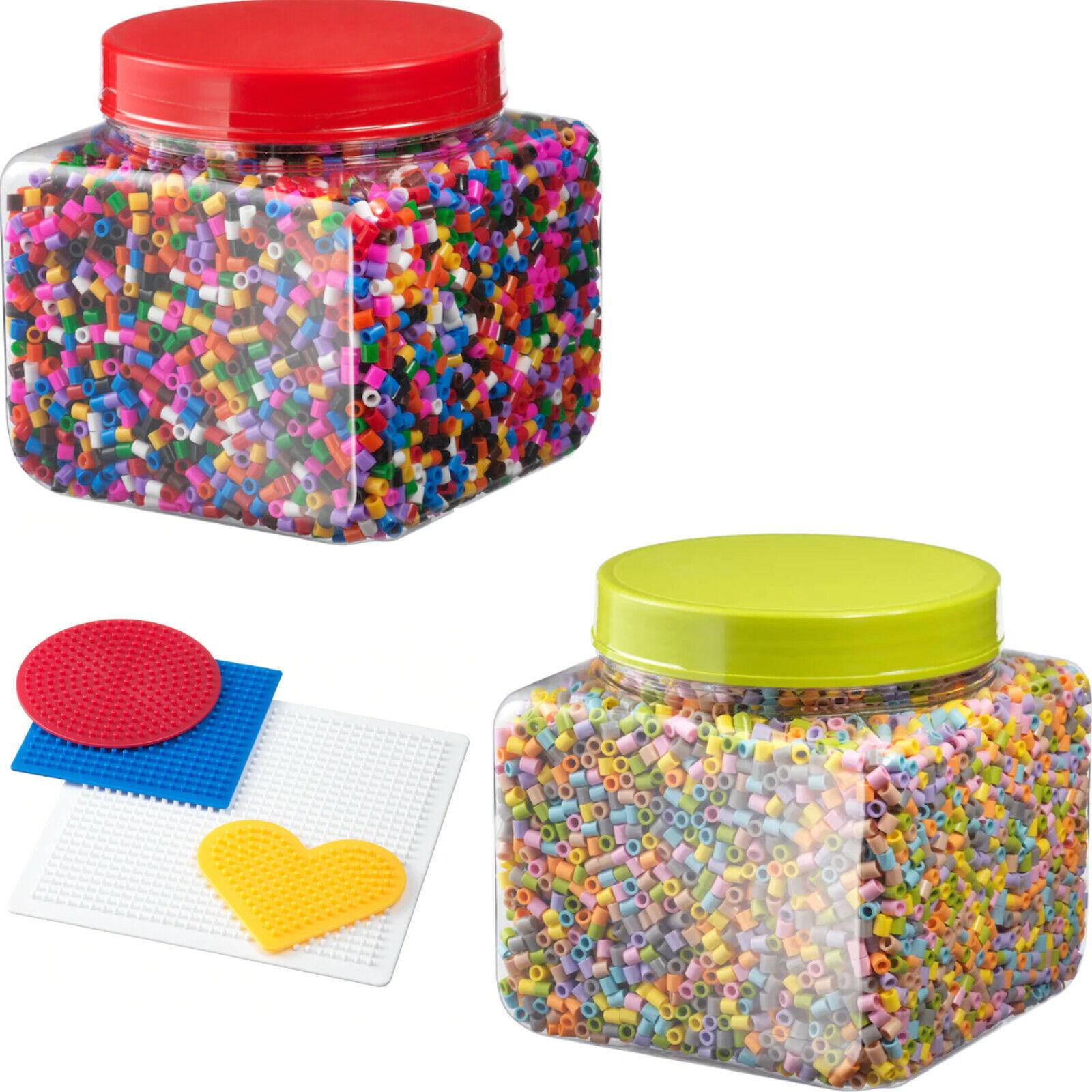 Hama 211 54 Bugelperlen Dose Mit Ca 13 000 Perlen Transparent