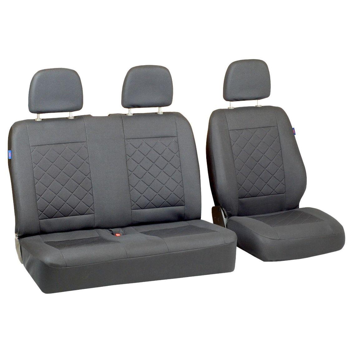 Graue Sitzbezüge für VOLKSWAGEN VW T5 Autositzbezug grau SET 1+2