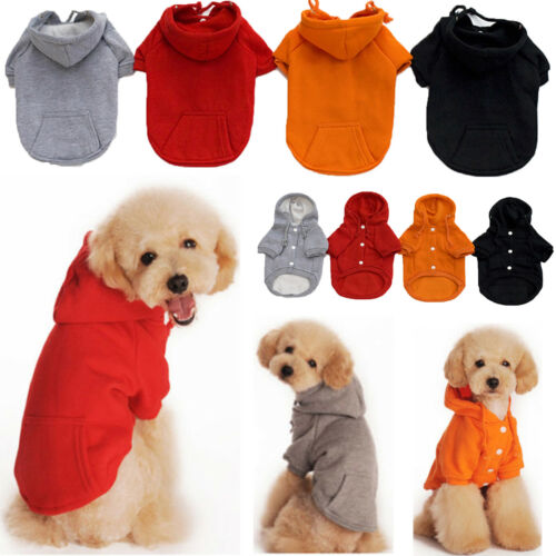 Small Pet Hoodie Sweater Coat Jacket Puppy Dog Cat Warm Costume Apparel Clothes 7