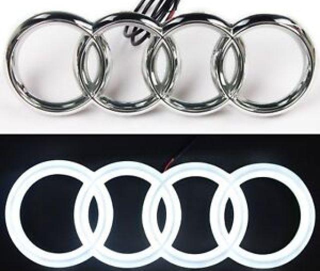 Audi S A A Rs A A Chrome Led White Light Front Grille Emblem Logo Badge
