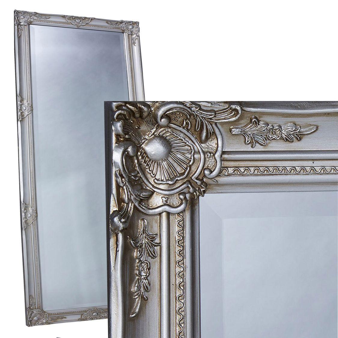 Wandspiegel Spiegel silber ca. 180 x 80 cm antik Barock mit Facettenschliff