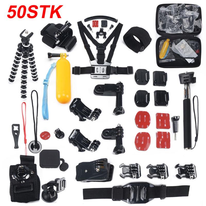 50-in-1 Teile Action Kamera Zubehör Kit Set für GoPro Hero 1 2 3 3+ 4 5 6