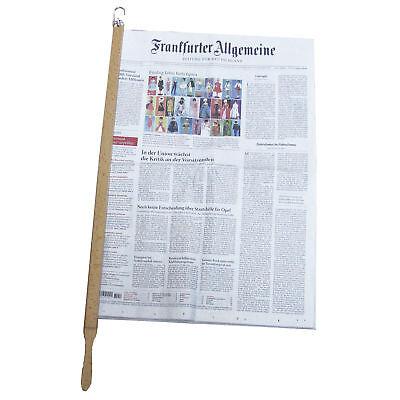 Zeitungshalter Zeitungsstock Buche hell Zeitung Magazin Speisekarte Halter Stock