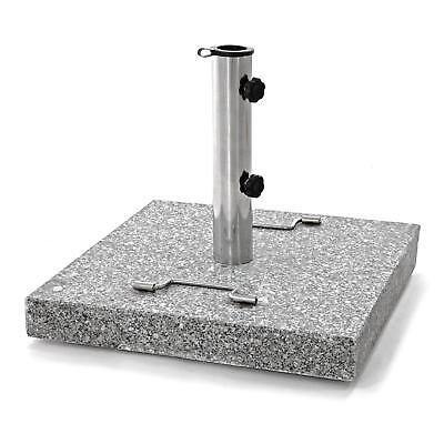 Sonnenschirmständer 30 kg polierter Granit quadratisch eckig für 5m Schirme