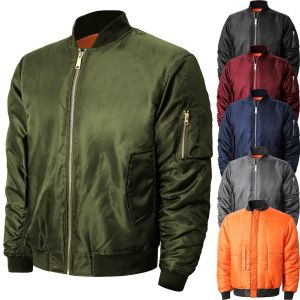 Reversible Bomber Jacket For Men Flight Military Air Force MA-1