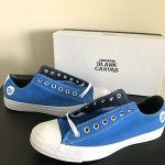 Converse Custom Chuck Taylor All Star Low Top Blue Blank Canvas Shoes Mens Sz 9