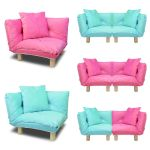 Corner Kid Sofa Children Furniture Floor Chair Lounge Cushion W Cushion