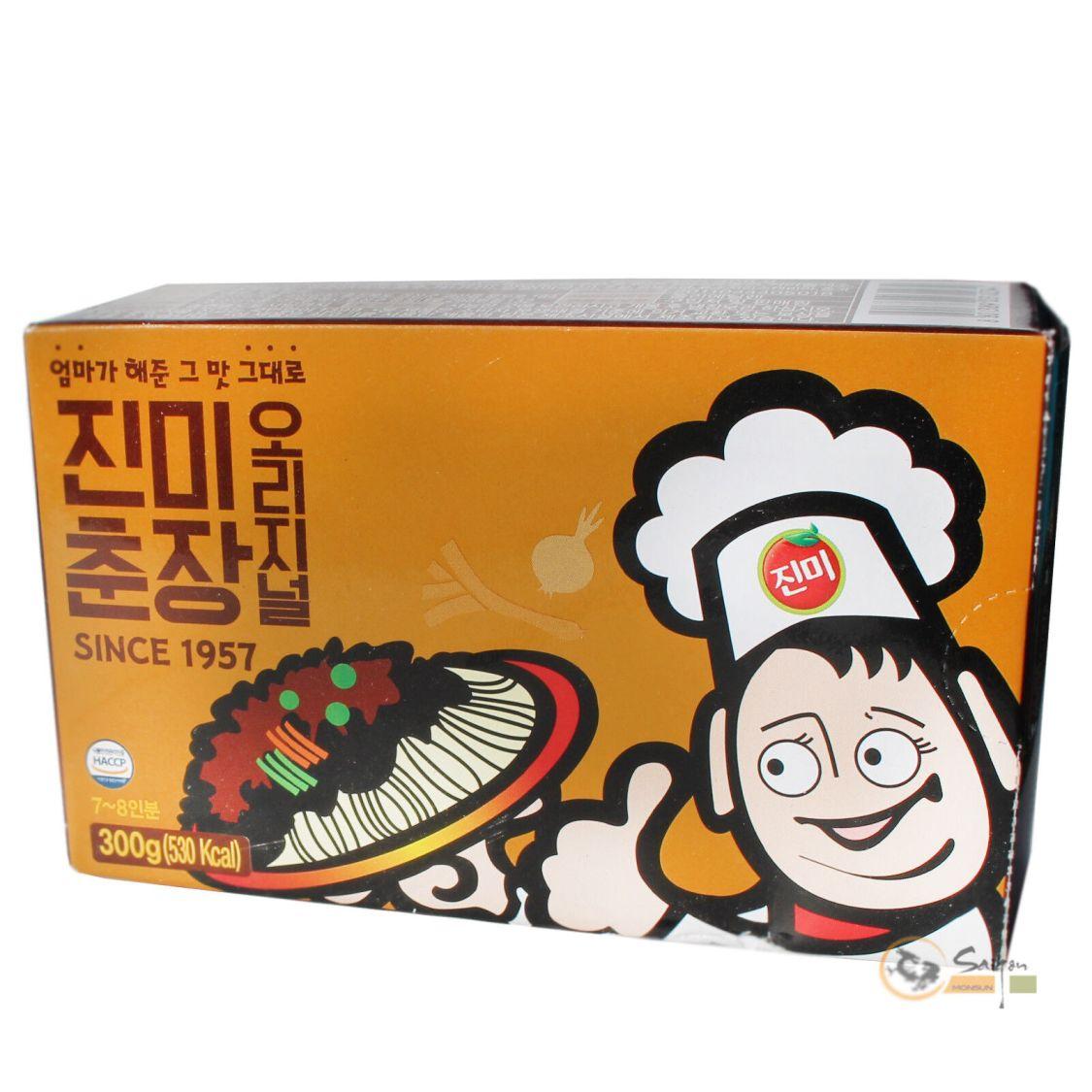 Jinmi Jjajang Koreanische schwarze Bohnen Black Bean Sauce 300g Chajang Korea
