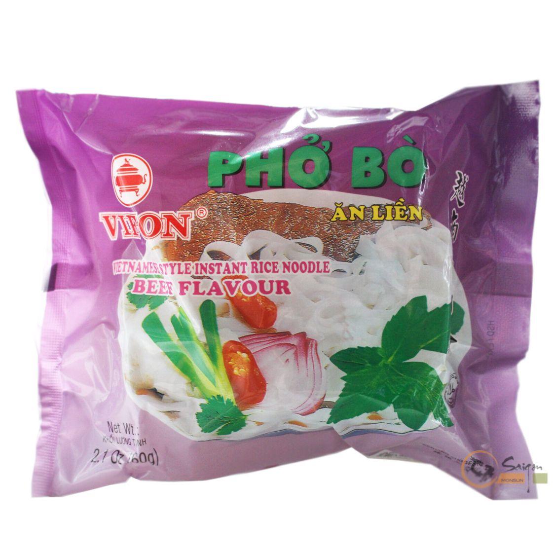 30x60g Vifon Pho Bo Vietnam Instant Reisnudeln mit Rindgeschmack Instantnudeln