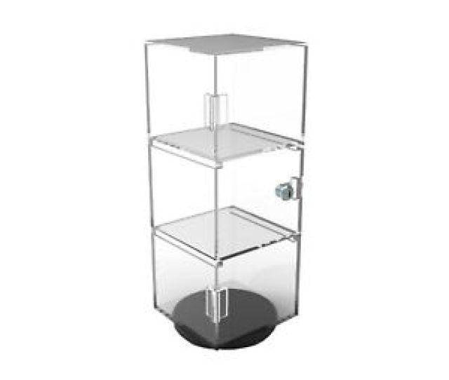 Clear Display Cabinet Acrylic Showcase Plexiglass Shelf Display Transparent Case