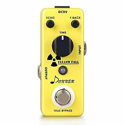 Donner Yellow Fall Vintage Pure Analog Delay Guitar Effect Pedal True Bypass F/S