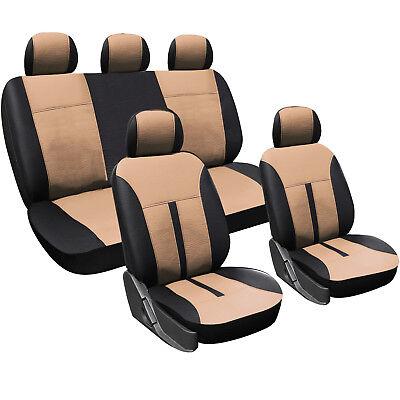 Auto Sitzbezug Schonbezug Komplettset Schoner für PKW ohne Seitenairbag AS7288