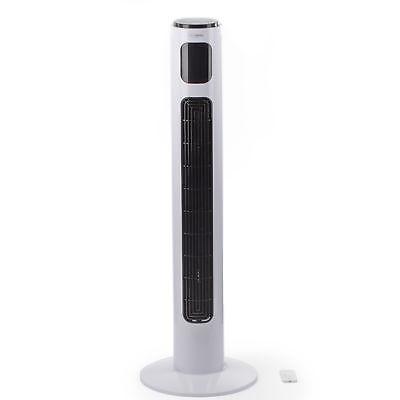 Brandson Turmventilator mit Fernbedienung | Weiß | LED-Display & Oszillation