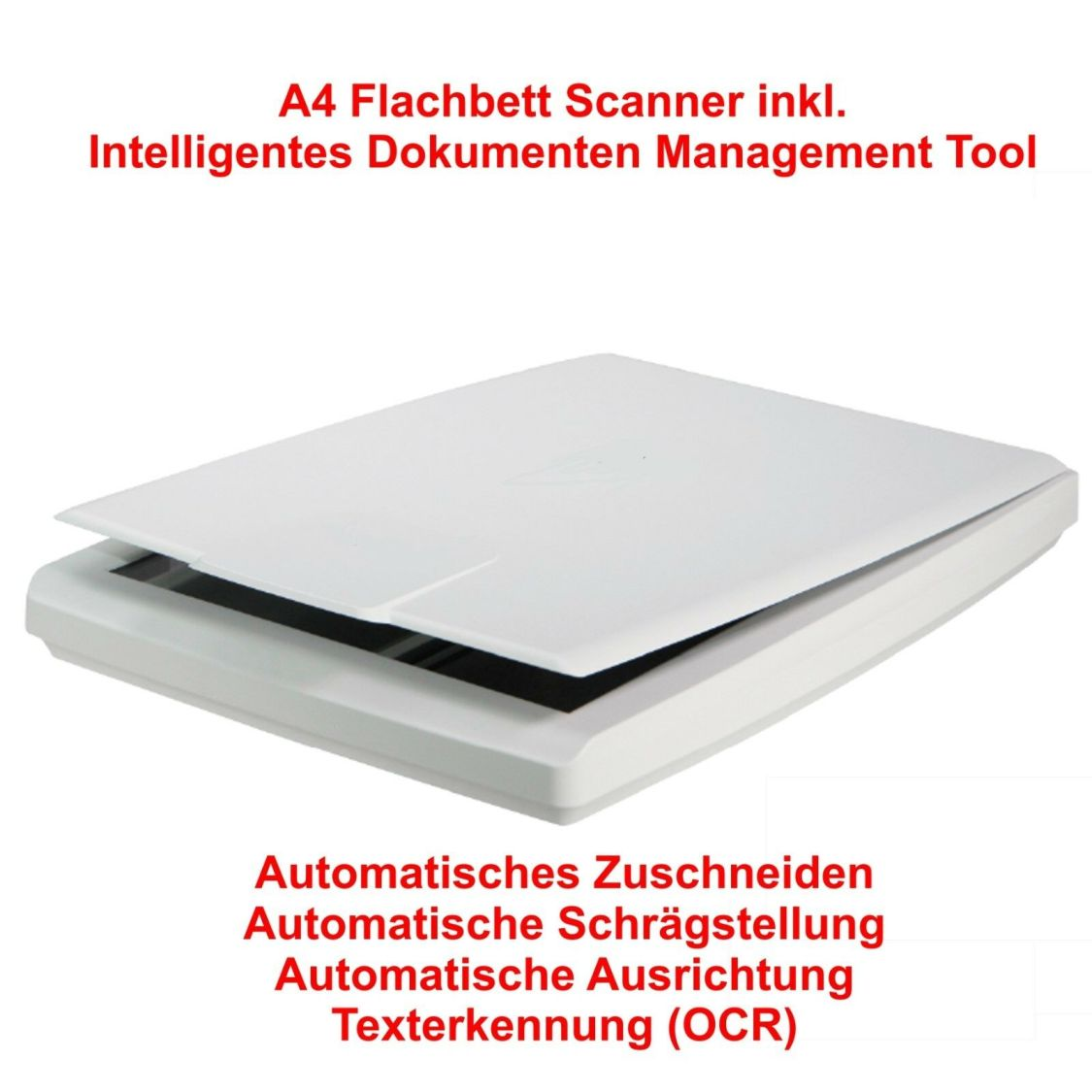 Sonderposten A4 Flachbett-Scanner inkl.Intelligentes Dokumenten Management Tool