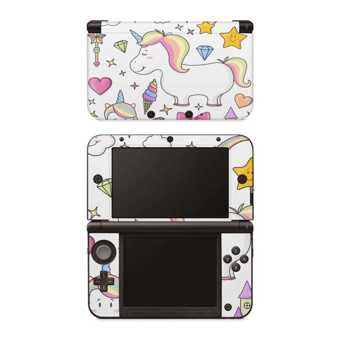 Nintendo NEW 3DS XL Aufkleber Skin Klebefolie Schutzfolie Sticker Einhorn Draw