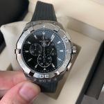 Tag Heuer Aquaracer Black Dial Chronograph Men's Watch CAY1110.FT6041 Rubber